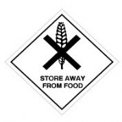 Hazard safety sign - Store Away From Food 064